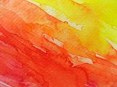 Red & Yellow Watercolor Background 2