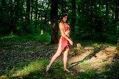 Female Spirit Mythology. Culture Of Wild Human. Fashion Primitive Design. Forest Fairy. Living Wild  poster