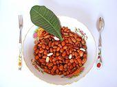 Grain Beans In Plate