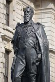 stock photo of devonshire  - Memorial statue of Spencer Compton - JPG