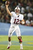 PASADENA, CA. - SEPT 11: Stanford Cardinal QB Andrew Luck #12 in action during the UCLA vs Stanford