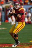 LOS ANGELES - SEP 17: USC Trojans QB Matt Barkley #7 during the NCAA Football game between the Syrac