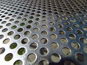 Stainless Steel Plate With Holes, Technical Texture poster
