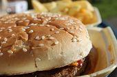 Hamburger & Pommes frites