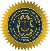 Coat Of Arms Of Rhode Island Officially The State Of Rhode Island And Providence Plantations, Is A S poster