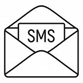 Sms Inbox Icon. Outline Sms Inbox Vector Icon For Web Design Isolated On White Background poster