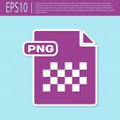 Retro Purple Png File Document. Download Png Button Icon Isolated On Turquoise Background. Png File  poster