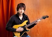 british indie pop rock look young musician guitar player man