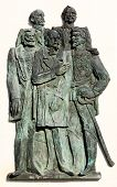 Statues in the Reconciliation Park of Arad, Romania, Europe