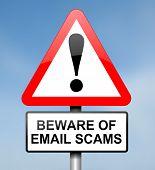 e-Mail-Betrug-Konzept.