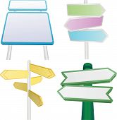 Vector Set Of Signs And Signposts