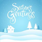 Seasons Greetings Text poster
