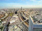 Aerial skyline of Tel Aviv, Israel.