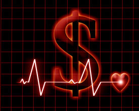 image of health-care  - The cost of public healthcare on a dark background - JPG