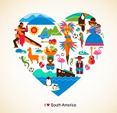 stock photo of national costume  - South America love  - JPG