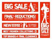 Banners para venta y nuevas colecciones de ropa de moda.