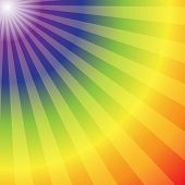 Rainbow Radial Rays Abstract Background