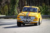 Leiria, Portugal - February 2: Joao Abrantes Drives A Saab 9.6 V Saloon During 2013 Amateur Winter R