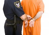 Police Transfers Prisoner In Handcuffs