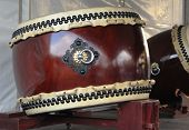 Japanese Taiko drum on stand