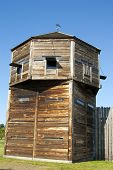 Defense Tower On A Pioneer Log Fortress Fort Vancouver