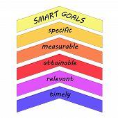 Smart Goals Up Arrows Concept