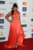 LOS ANGELES - FEB 9:  Ashanti arrives at the Clive Davis 2013 Pre-GRAMMY Gala at the Beverly Hilton