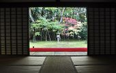 Japanese Garden In The Koto-in A Sub-temple Of Daitoku-ji