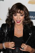 LOS ANGELES - FEB 9:  Joan Collins arrives at the Clive Davis 2013 Pre-GRAMMY Gala at the Beverly Hi