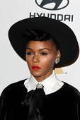 LOS ANGELES - FEB 9:  Janelle Monae arrives at the Clive Davis 2013 Pre-GRAMMY Gala at the Beverly H