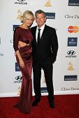LOS ANGELES - FEB 9:  Yolanda Hadid, David Foster arrives at the Clive Davis 2013 Pre-GRAMMY Gala at