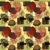 art vintage geometric pattern background
