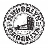 Brooklyn grunge rubber stamp