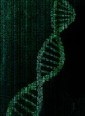 encrypted data of dna molecule