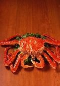King Crab Of Wood Background