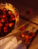 Royal Anne Cherries In A Bowl