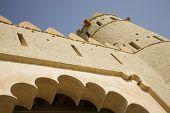 Detail of front entrance of Al Jahli Fort
