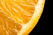 macro of an ripe orange for backgrounds