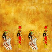 foto of isis  - Seamless background with Egyptian goddess Isis image - JPG