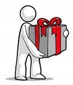 gift-giving man