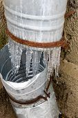 Icicles On A Drainpipe poster