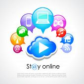 Stay online vector poster