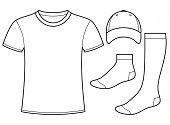 shirt, Cap And Socks Template