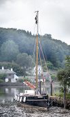 Sailing Boat At Lerryn