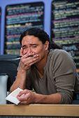 Overwhelmed Restaraunt Worker