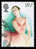 Britain Ballerina Postage Stamp
