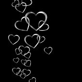 High grade silver hearts background