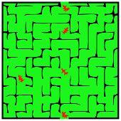 Black Square Maze (14X14) With Shadow