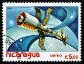 Postage Stamp Nicaragua 1982 Satellite, Space Program
