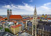 Munich, Germany skyline at City Hall.